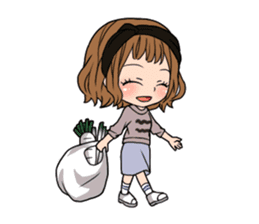 "StampGirl ""Daily Life"" English edition sticker #1043064"