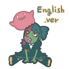 zombi girl sticker English version