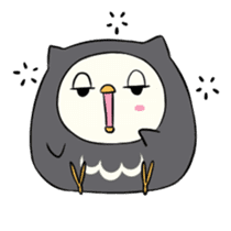 I am a cute owl [EN] sticker #1043532