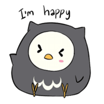 I am a cute owl [EN] sticker #1043536