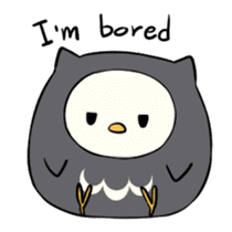 I am a cute owl [EN] sticker #1043541