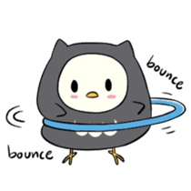I am a cute owl [EN] sticker #1043543