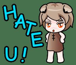Fugui The Cat (Nekomimi) English Version sticker #1043731