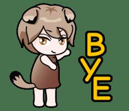 Fugui The Cat (Nekomimi) English Version sticker #1043761
