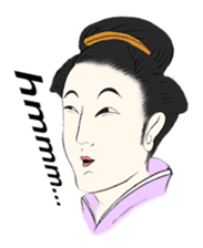 Ukiyoe girls sticker #1044282