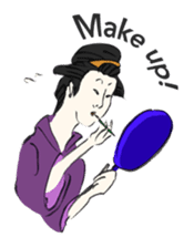 Ukiyoe girls sticker #1044296