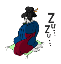 Ukiyoe girls sticker #1044318