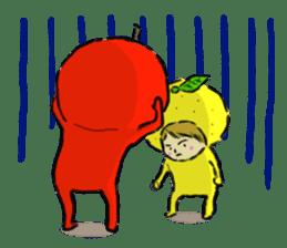 apple and orange English version sticker #1044607