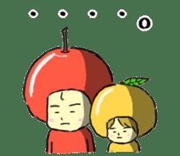 apple and orange English version sticker #1044608