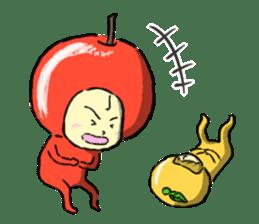 apple and orange English version sticker #1044609