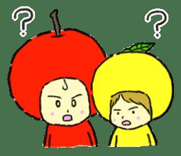 apple and orange English version sticker #1044610