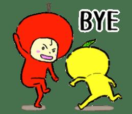 apple and orange English version sticker #1044611