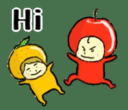apple and orange English version sticker #1044612