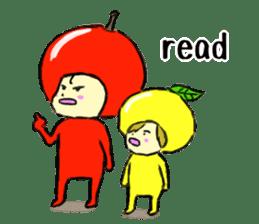 apple and orange English version sticker #1044615