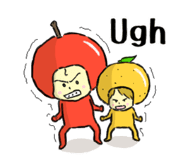 apple and orange English version sticker #1044617