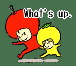 apple and orange English version sticker #1044620