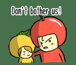apple and orange English version sticker #1044623