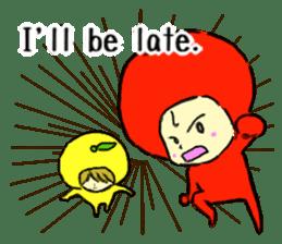 apple and orange English version sticker #1044625