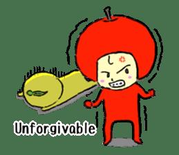 apple and orange English version sticker #1044626