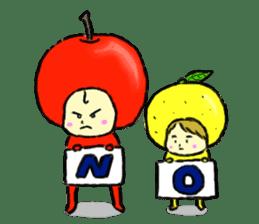 apple and orange English version sticker #1044630