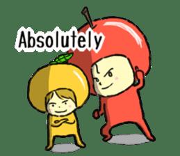 apple and orange English version sticker #1044633