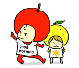 apple and orange English version sticker #1044634