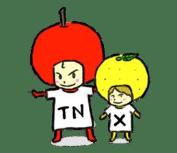 apple and orange English version sticker #1044636