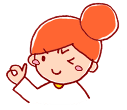 Honorific girl with a bun hairstyle sticker #1044702