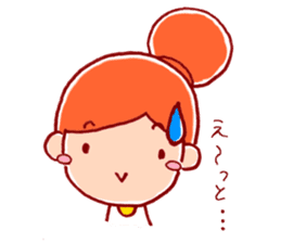 Honorific girl with a bun hairstyle sticker #1044705