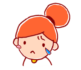 Honorific girl with a bun hairstyle sticker #1044706