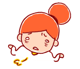 Honorific girl with a bun hairstyle sticker #1044707