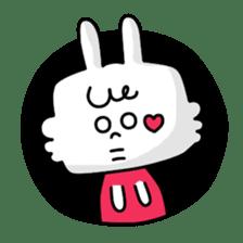 Cute rabbit BANITAN sticker #1045097