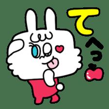 Cute rabbit BANITAN sticker #1045100
