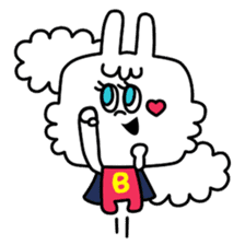 Cute rabbit BANITAN sticker #1045105