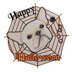 Halloween French bulldog Sticker