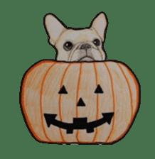 Halloween French bulldog Sticker sticker #1045362
