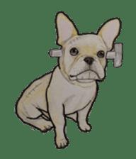 Halloween French bulldog Sticker sticker #1045363