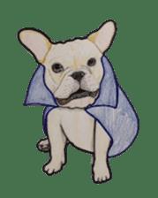 Halloween French bulldog Sticker sticker #1045364