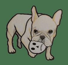 Halloween French bulldog Sticker sticker #1045365