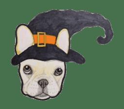 Halloween French bulldog Sticker sticker #1045366