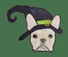 Halloween French bulldog Sticker sticker #1045367