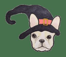 Halloween French bulldog Sticker sticker #1045368