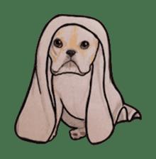 Halloween French bulldog Sticker sticker #1045371