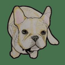 Halloween French bulldog Sticker sticker #1045372