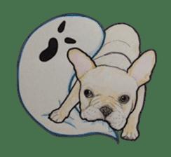 Halloween French bulldog Sticker sticker #1045373