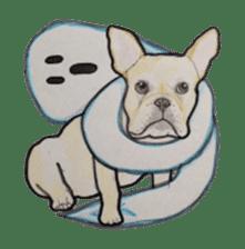 Halloween French bulldog Sticker sticker #1045375