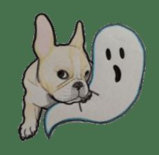Halloween French bulldog Sticker sticker #1045376