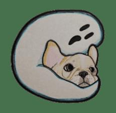 Halloween French bulldog Sticker sticker #1045377