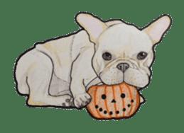 Halloween French bulldog Sticker sticker #1045378