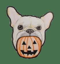 Halloween French bulldog Sticker sticker #1045379